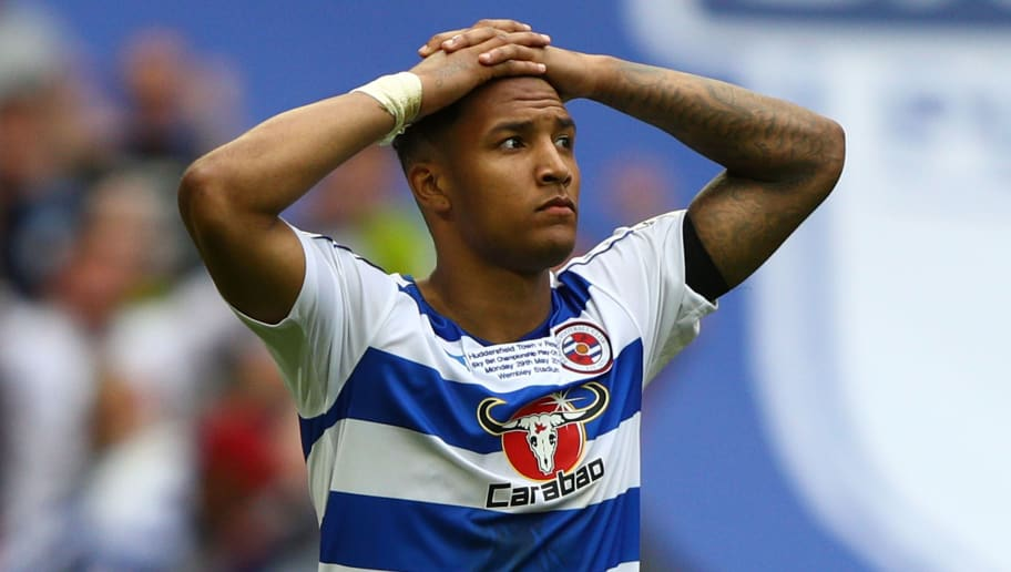 LONDON, ENGLAND - MAY 29:  Liam Moore of Reading reacts to missing his sides fourth penalty during the penalty shoot out during the Sky Bet Championship play off final between Huddersfield and Reading at Wembley Stadium on May 29, 2017 in London, England.  (Photo by Ian Walton/Getty Images)