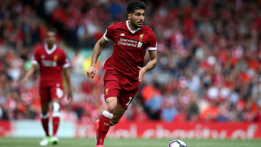 LIVERPOOL, ENGLAND - MAY 21:  Emre Can of Liverpool during the Premier League match between Liverpool and Middlesbrough at Anfield on May 21, 2017 in Liverpool, England.  (Photo by Jan Kruger/Getty Images)