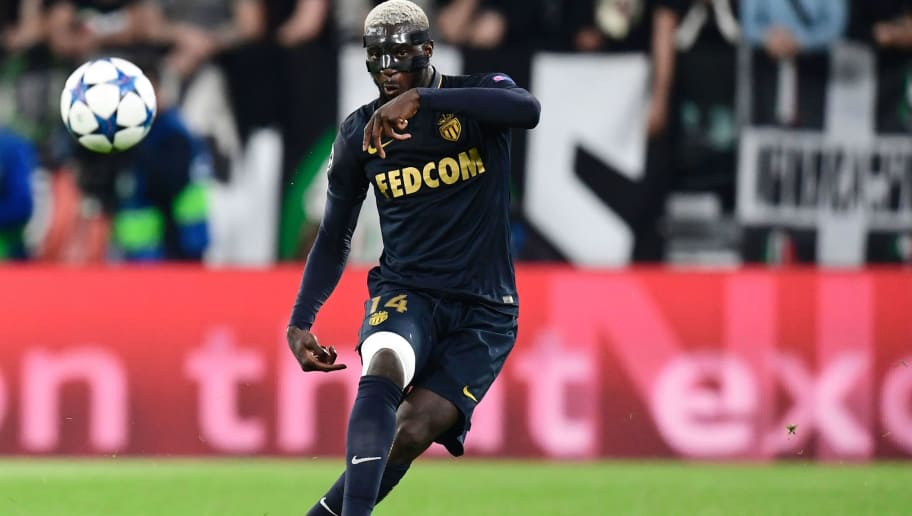 Monaco's French midfielder Tiemoue Bakayoko kicks the ball during the UEFA Champions League semi final second leg football match Juventus vs Monaco, on May 9, 2017 at the Juventus stadium in Turin.  Juventus secured their place in the final of the Champions League on Tuesday after beating Monaco 2-1 in their semi-final second leg to win the tie 4-1 on aggregate. / AFP PHOTO / Miguel MEDINA        (Photo credit should read MIGUEL MEDINA/AFP/Getty Images)