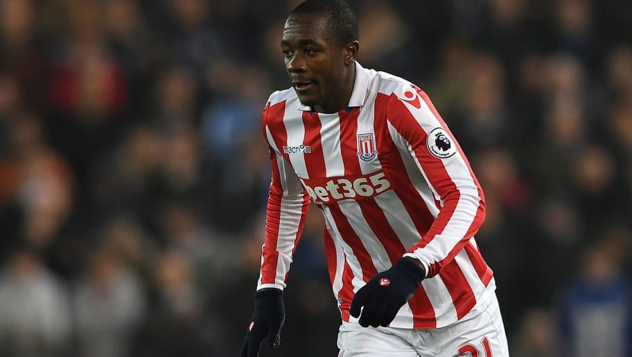 STOKE ON TRENT, ENGLAND - DECEMBER 17: Giannelli Imbula of Stoke City during the Premier League match between Stoke City and Leicester City at Bet365 Stadium on December 17, 2016 in Stoke on Trent, England.  (Photo by Gareth Copley/Getty Images)