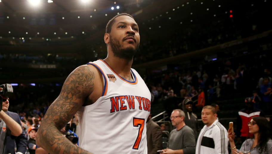 more photos 2b405 90626 REPORT  Melo Likely to Spoil Kyrie Irving Trade for Knicks