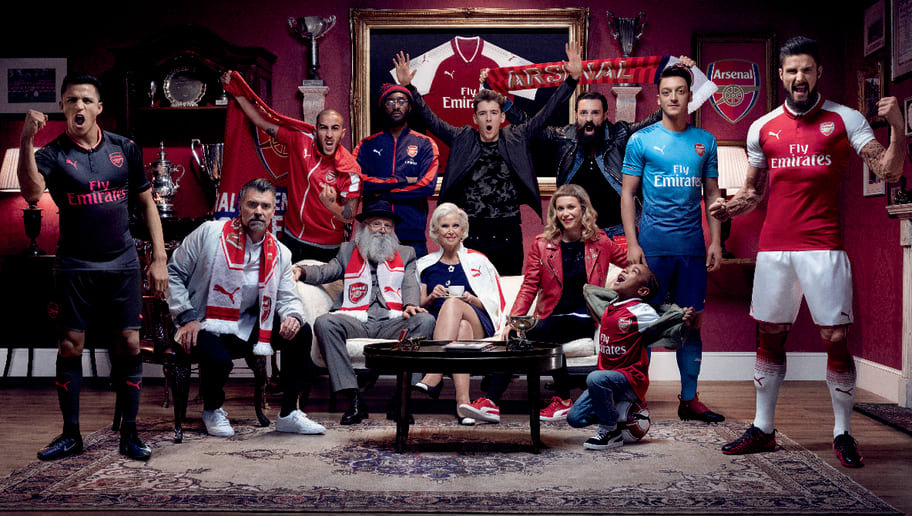 8f0f9253 PHOTOS: Arsenal Launch New Blue PUMA Away Strip to Complete 2017/18 Kit  Line-Up
