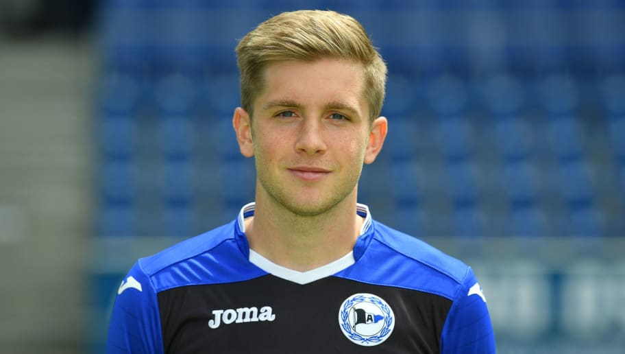BIELEFELD, GERMANY - JULY 04:  Patrick Weihrauch poses during the Second Bundesliga team presentation of Arminia Bielefeld at Schueco Arena on July 4, 2017 in Bielefeld, Germany.  (Photo by Thomas Starke/Bongarts/Getty Images)