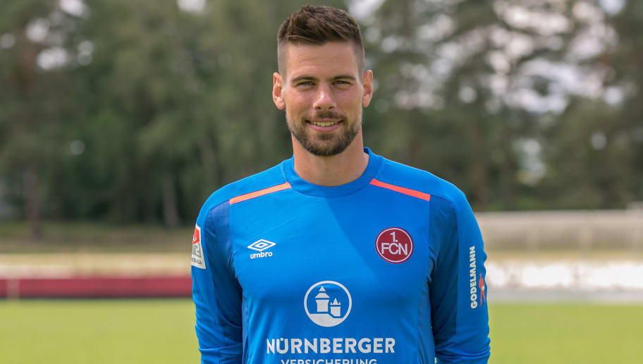 NUREMBERG, GERMANY - JULY 03:  Thorsten Kirschbaum of 1. FC Nuernberg poses during the 1. FC Nuernberg team presentation at  Sportpark Valznerweiher on July 3, 2017 in Nuremberg, Germany.