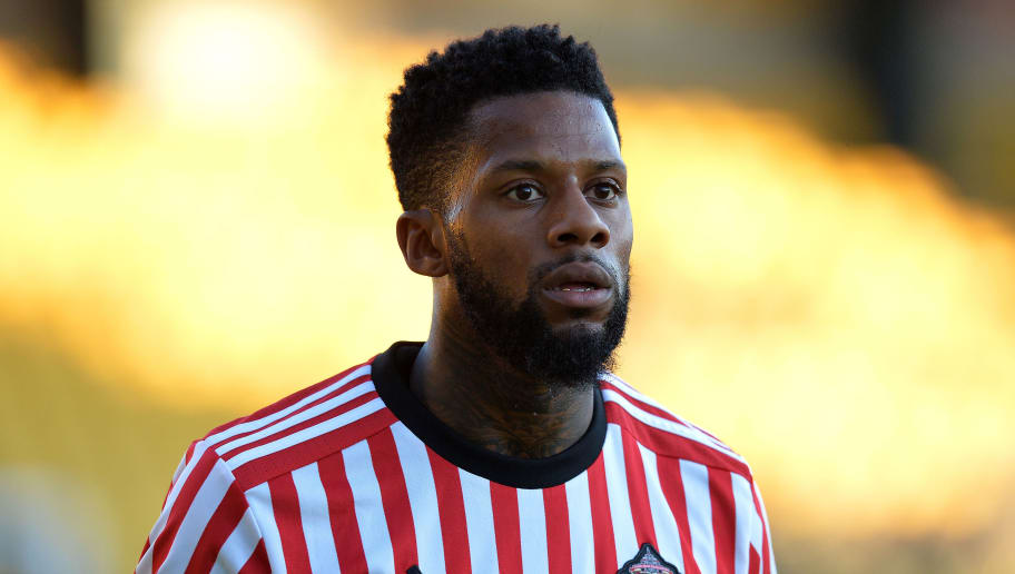 LIVINGSTON, SCOTLAND - JULY 12: Jeremain Lens of Sunderland in action during the pre season friendly between Livingston and Sunderland at Almondvale Stadium on July 12, 2017 in Livingston, Scotland. (Photo by Mark Runnacles/Getty Images)