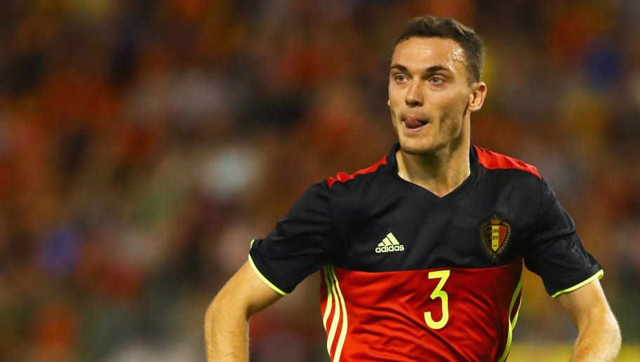 BRUSSELS, BELGIUM - JUNE 05:  Thomas Vermaelen of Belgium in action during the International Friendly match between Belgium and Czech Republic at Stade Roi Baudouis on June 5, 2017 in Brussels, Belgium.  (Photo by Dean Mouhtaropoulos/Getty Images)