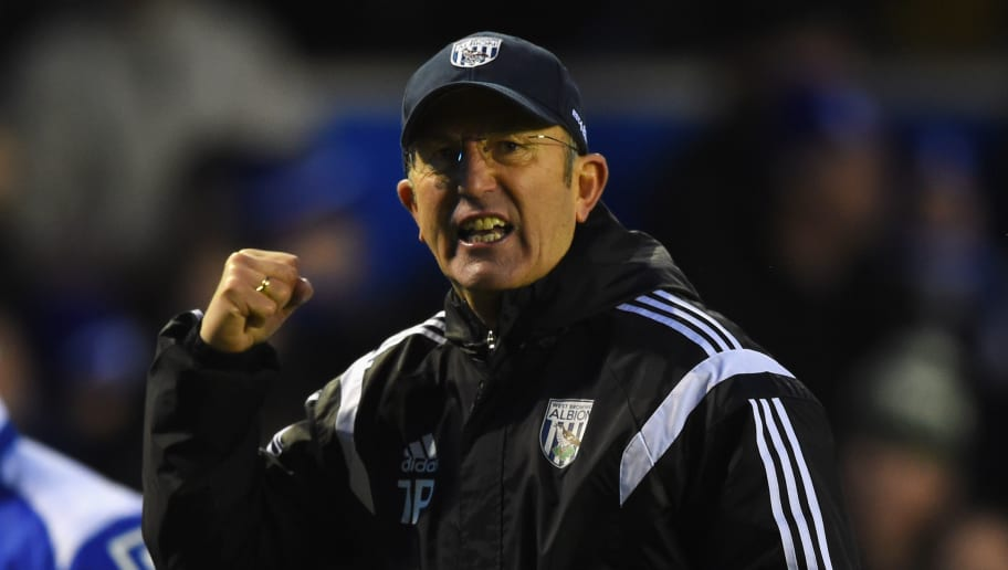 BIRMINGHAM, ENGLAND - JANUARY 24:  Tony Pulis, manager of West Brom celebrates after the FA Cup Fourth Round match between Birmingham City and West Bromwich Albion at St Andrews on January 24, 2015 in Birmingham, England.  (Photo by Shaun Botterill/Getty Images)