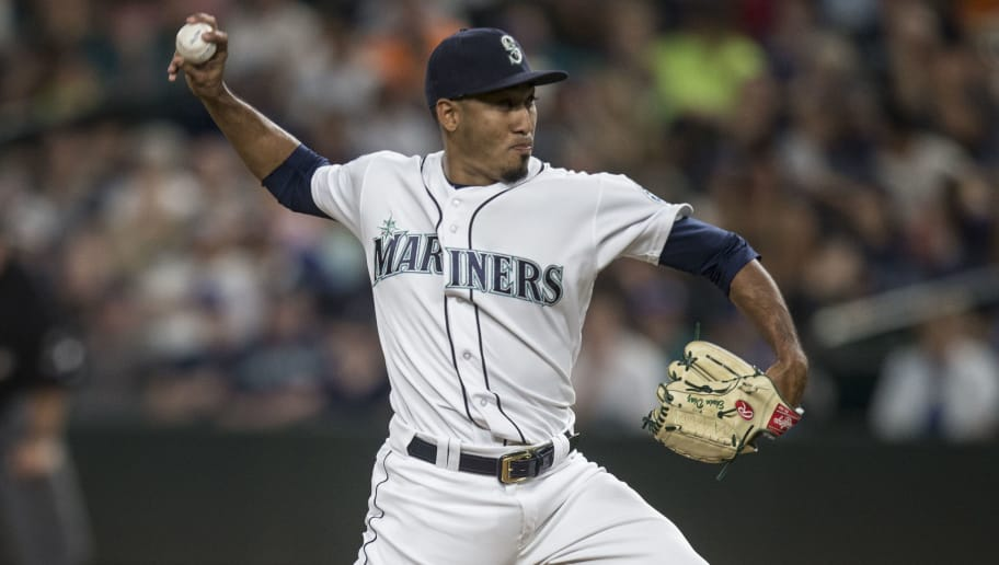 SEATTLE, WA - JULY 8: Reliever Edwin Diaz #39 of the Seattle Mariners delivers a pitch during the ninth inning of a game against the Oakland Athletics at Safeco Field on July 8, 2017 in Seattle, Washington. The Athletics won the game 4-3. (Photo by Stephen Brashear/Getty Images)