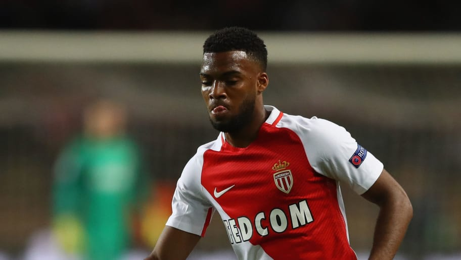 MONACO - MAY 03:  Thomas Lemar of Monaco  during the UEFA Champions League Semi Final first leg match between AS Monaco v Juventus at Stade Louis II on May 3, 2017 in Monaco, Monaco.  (Photo by Michael Steele/Getty Images)