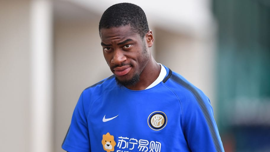 SINGAPORE - JULY 26: Geoffrey Kondogbia #7 of FC Inter Milan looks during a training session of International Champions Cup training session at Bishan Stadium on July 26, 2017 in Singapore.  (Photo by Thananuwat Srirasant/Getty Images  for ICC)