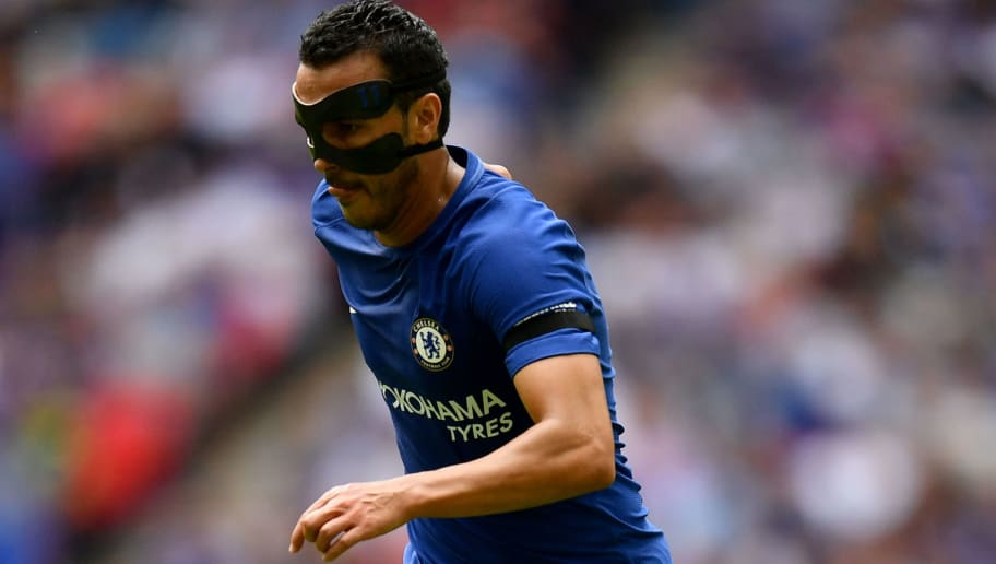 LONDON, ENGLAND - AUGUST 06: Pedro of Chelsea in action during the The FA Community Shield final between Chelsea and Arsenal at Wembley Stadium on August 6, 2017 in London, England.  (Photo by Dan Mullan/Getty Images)