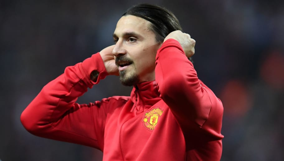 Manchester United's Swedish striker Zlatan Ibrahimovic reacts after victory in the UEFA Europa League final football match Ajax Amsterdam v Manchester United on May 24, 2017 at the Friends Arena in Solna outside Stockholm. / AFP PHOTO / Paul ELLIS        (Photo credit should read PAUL ELLIS/AFP/Getty Images)