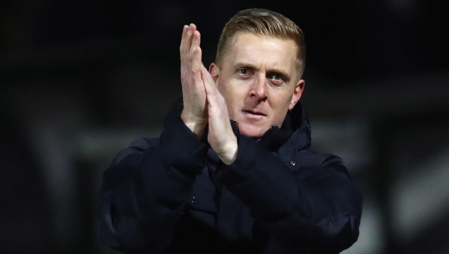 CAMBRIDGE, ENGLAND - JANUARY 09:  Garry Monk manager of Leeds United applauds the travelling fans after the Emirates FA Cup Third Round match between Cambridge United and Leeds United at Cambs Glass Stadium on January 9, 2017 in Cambridge, England.  (Photo by Julian Finney/Getty Images)
