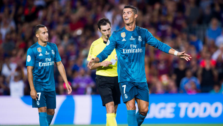 d70a7d09c VIDEO  What Cristiano Ronaldo Said to Barcelona Delegate After Being Sent  Off in El Clasico