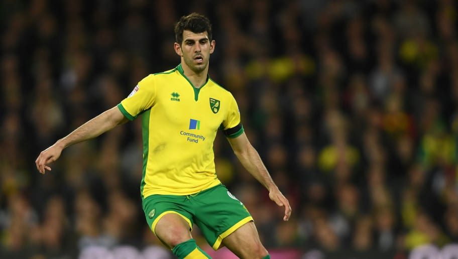 NORWICH, ENGLAND - APRIL 21:  Nelson Oliveira of Norwich in action during the Sky Bet Championship match between Norwich City and Brighton & Hove Albion at Carrow Road on April 21, 2017 in Norwich, England.  (Photo by Mike Hewitt/Getty Images)