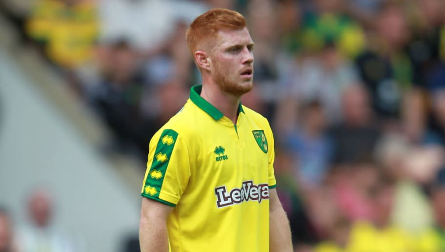 NORWICH, ENGLAND - JULY 29: Harrison Reed of Norwich in action during the pre-season friendly match between Norwich City and Brighton & Hove Albion at Carrow Road on July 29, 2017 in Norwich, England. (Photo by Harry Hubbard/Getty Images)