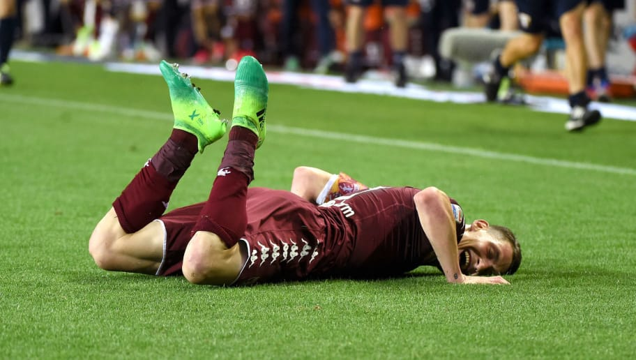TURIN, ITALY - MAY 28:  Andrea Belotti of FC Torino celebrates his first goal during the Serie A match between FC Torino and US Sassuolo at Stadio Olimpico di Torino on May 28, 2017 in Turin, Italy.  (Photo by Pier Marco Tacca/Getty Images)