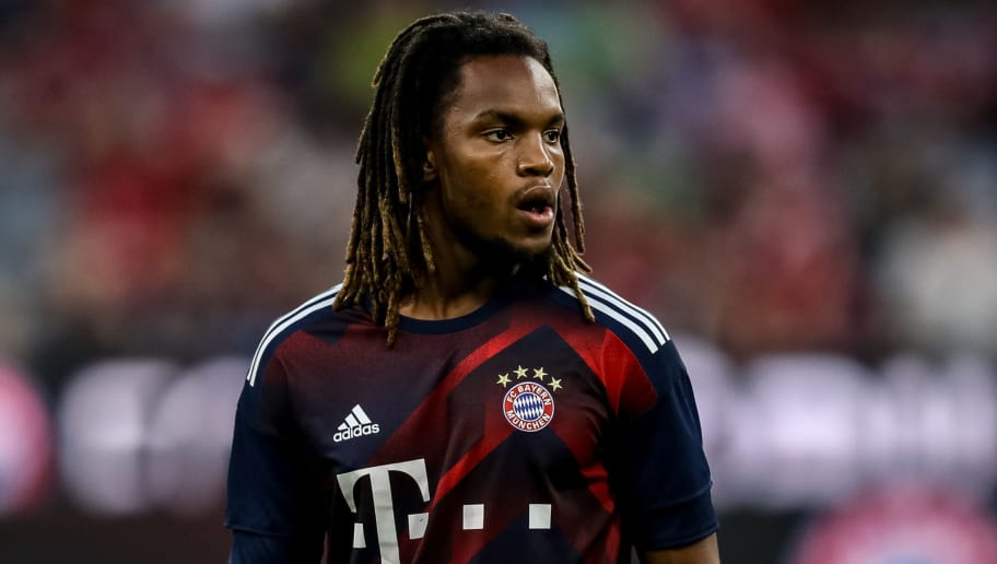 MUNICH, GERMANY - AUGUST 18: Sanches Renato of Bayern Muenchen looks on prior the Bundesliga match between FC Bayern Muenchen and Bayer 04 Leverkusen at Allianz Arena on August 18, 2017 in Munich, Germany. (Photo by Maja Hitij/Bongarts/Getty Images)