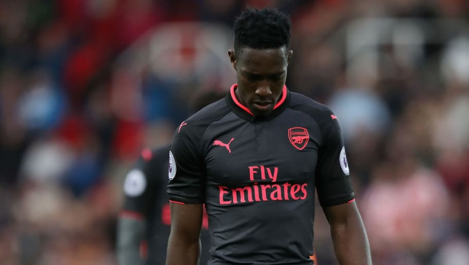 STOKE ON TRENT, ENGLAND - AUGUST 19: Danny Welbeck of Arsenal is dejected after the Premier League match between Stoke City and Arsenal at Bet365 Stadium on August 19, 2017 in Stoke on Trent, England.  (Photo by David Rogers/Getty Images)