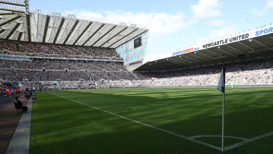 NEWCASTLE UPON TYNE, ENGLAND - AUGUST 26:  A general view of the stadium is seen during the Premier League match between Newcastle United and West Ham United at St. James Park on August 26, 2017 in Newcastle upon Tyne, England. (Photo by Ian MacNicol/Getty Images)