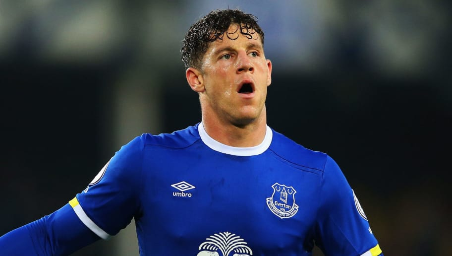 LIVERPOOL, ENGLAND - MAY 12:  Ross Barkley of Everton celebrates scoring his sides first goal during the Premier League match between Everton and Watford at Goodison Park on May 12, 2017 in Liverpool, England.  (Photo by Alex Livesey/Getty Images)