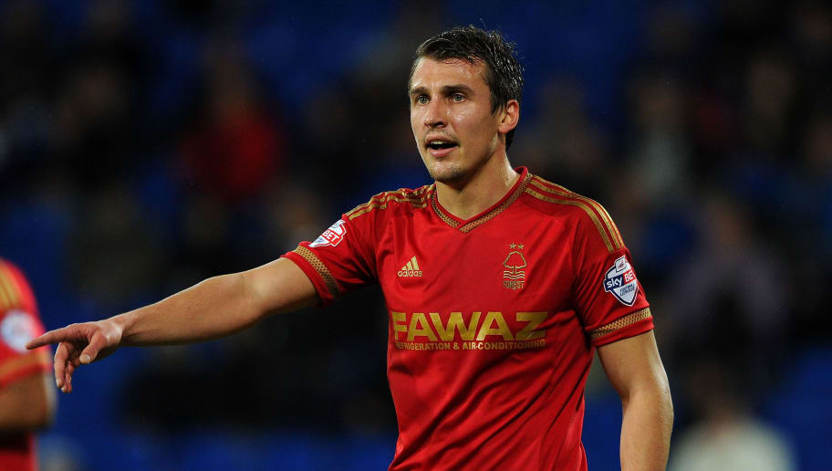 CARDIFF, WALES - DECEMBER 29:  Robert Tesche of Nottingham Forest during the Sky Bet Championship match between Cardiff City and Nottingham Forest at the Cardiff City Stadium on December 29, 2015 in Cardiff, Wales.  (Photo by Harry Trump/Getty Images)
