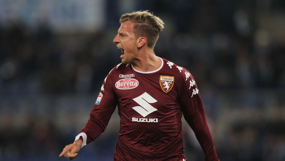 ROME, ITALY - MARCH 13:  Maxi Lopez of FC Torino celebrates after scoring the team's first goal during the Serie A match between SS Lazio and FC Torino at Stadio Olimpico on March 13, 2017 in Rome, Italy.  (Photo by Paolo Bruno/Getty Images)