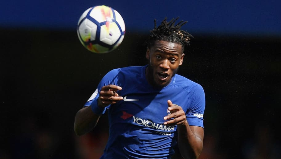 LONDON, ENGLAND - AUGUST 12: Michy Batshuayi of Chelsea in action during the Premier League match between Chelsea and Burnley at Stamford Bridge on August 12, 2017 in London, England.  (Photo by Michael Regan/Getty Images)