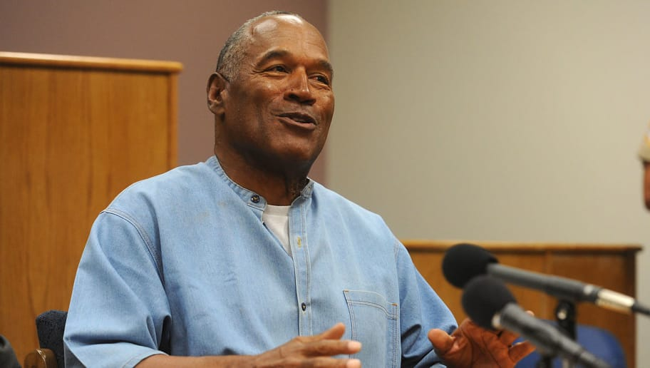 LOVELOCK, NV - JULY 20: O.J. Simpson attends a parole hearing at Lovelock Correctional Center July 20, 2017 in Lovelock, Nevada. Simpson is serving a nine to 33 year prison term for a 2007 armed robbery and kidnapping conviction. (Photo by Jason Bean-Pool/Getty Images)