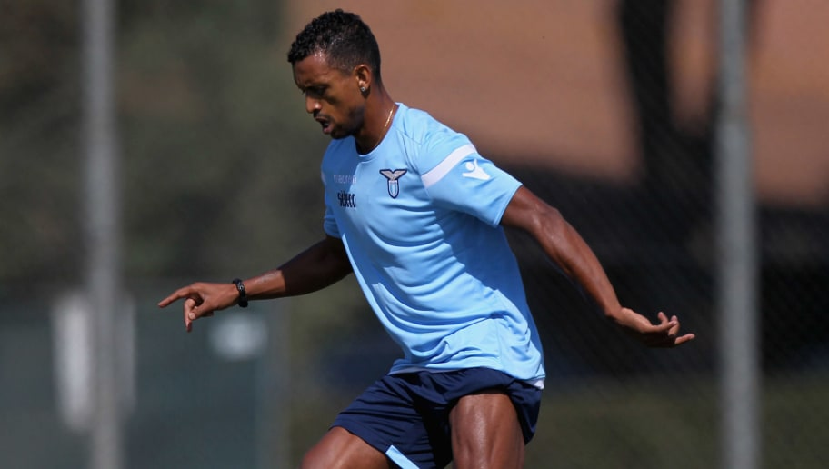 ROME, ITALY - SEPTEMBER 13:  Nani of SS Lazio in action during the SS Lazio training session on September 13, 2017 in Rome, Italy.  (Photo by Paolo Bruno/Getty Images)
