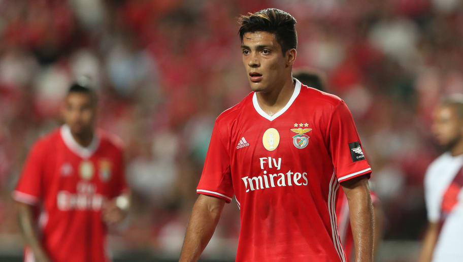 LISBON, PORTUGAL - JULY 27: Benfica's forward Raul Jimenez during the match between SL Benfica and Torino for the Eusebio Cup at Estadio da Luz on July 27, 2016 in Lisbon, Portugal.  (Photo by Carlos Rodrigues/Getty Images)
