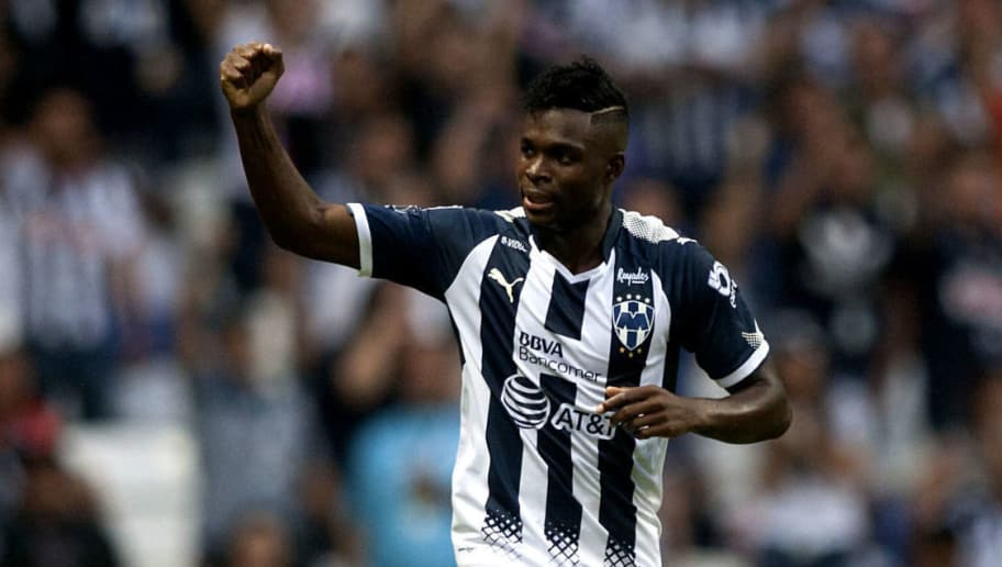 Monterreys Aviles Hurtado celebrates after scoring against Atlas during their Mexican Apertura 2017 tournament football match at the BBVA Bancomer stadium in Monterrey, Mexico on September 16, 2017.  / AFP PHOTO / Julio Cesar AGUILAR        (Photo credit should read JULIO CESAR AGUILAR/AFP/Getty Images)