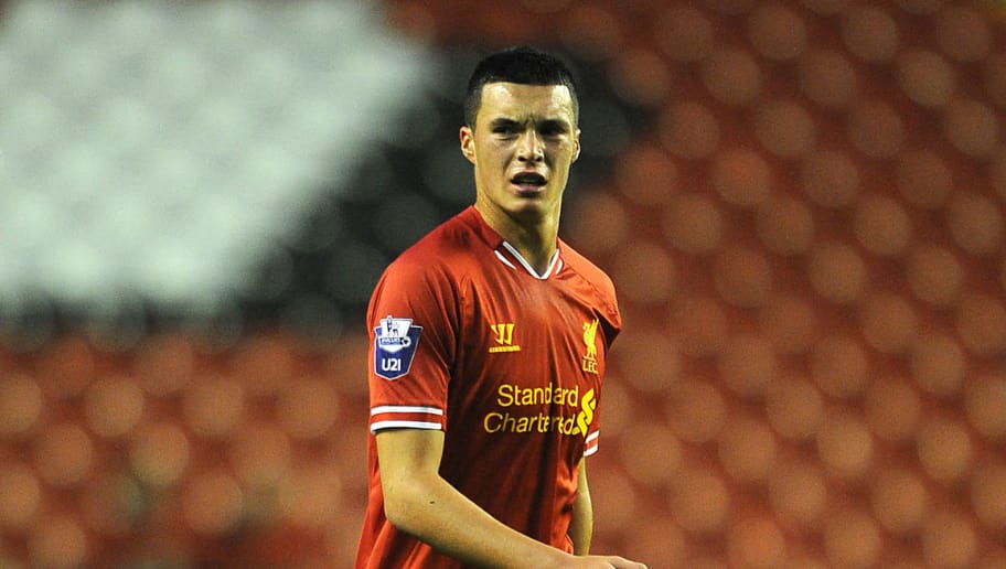 LIVERPOOL, ENGLAND - SEPTEMBER 17: Lloyd Jones of Liverpool U21 in action during the Barclays U21s Premier League match between Liverpool U21 and Sunderland U21 at Anfield on September 17, 2013 in Liverpool, England. (Photo by Chris BrunskillGetty Images)