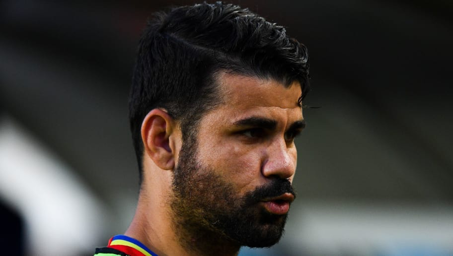 MURCIA, SPAIN - JUNE 07:  Diego Costa of Spain looks on during a friendly match between Spain and Colombia at La Nueva Condomina stadium on June 7, 2017 in Murcia, Spain.  (Photo by David Ramos/Getty Images)