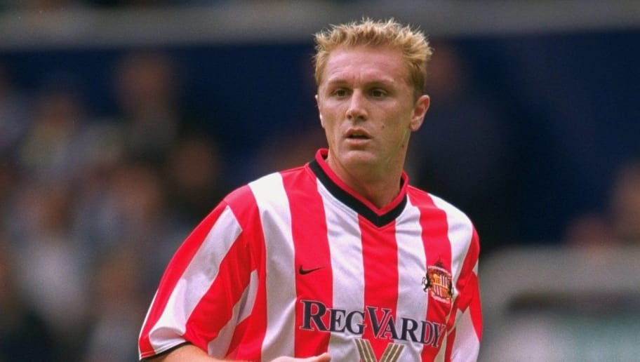 4 Aug 2001:  Lilian Laslandes of Sunderland in action during the pre-season friendly match against West Bromwich Albion played at The Hawthorns, in Birmingham, England. Sunderland won the match 3-0. \ Mandatory Credit: Clive Brunskill /Allsport