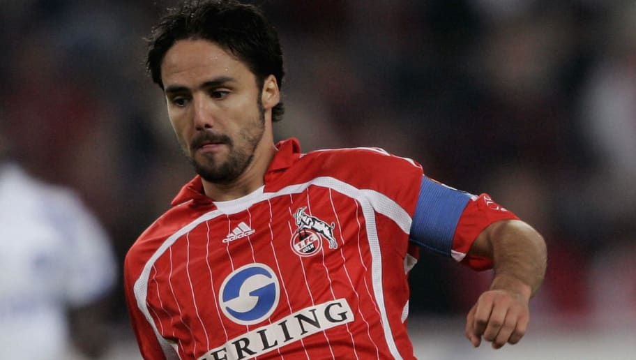COLOGNE, GERMANY - OCTOBER 16:  Ricardo Cabanas of Cologne runs with the ball during the Second Bundesliga match between 1.FC Cologne and Karlsruher SC at the RheinEnergie Stadium on October 16, 2006 in Cologne, Germany.  (Photo by Christof Koepsel/Bongarts/Getty Images)