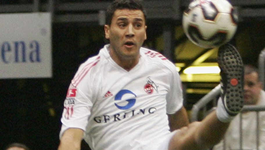 COLOGNE, GERMANY - JANUARY 02: Youssef Mokhtari of 1. FC Cologne is seen in action during the Indoor soccer tournament at the Cologne Arena on January 2, 2006 in Cologne, Germany.  (Photo by Vladimir Rys/Bongarts/Getty Images)