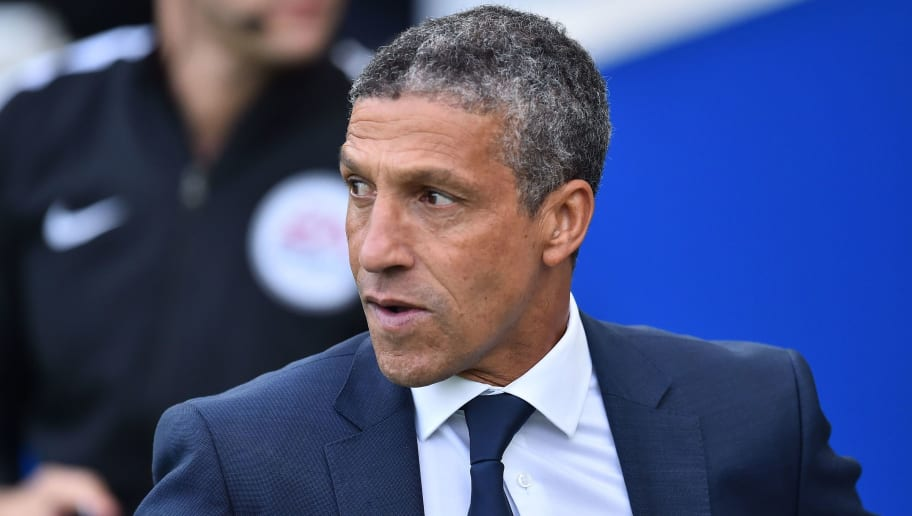 Brighton's Irish manager Chris Hughton arrives for the English Premier League football match between Brighton and Hove Albion and Newcastle United at the American Express Community Stadium in Brighton, southern England on September 24, 2017. / AFP PHOTO / Glyn KIRK / RESTRICTED TO EDITORIAL USE. No use with unauthorized audio, video, data, fixture lists, club/league logos or 'live' services. Online in-match use limited to 75 images, no video emulation. No use in betting, games or single club/league/player publications.  /         (Photo credit should read GLYN KIRK/AFP/Getty Images)