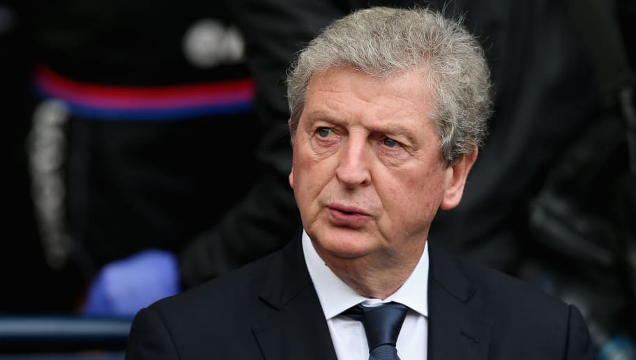 MANCHESTER, ENGLAND - SEPTEMBER 23: Roy Hodgson, Manager of Crystal Palace looks on prior to the Premier League match between Manchester City and Crystal Palace at Etihad Stadium on September 23, 2017 in Manchester, England.  (Photo by Jan Kruger/Getty Images)