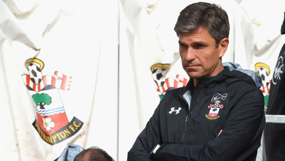 SOUTHAMPTON, ENGLAND - SEPTEMBER 09:  Mauricio Pellegrino, Manager of Southampton during the Premier League match between Southampton and Watford at St Mary's Stadium on September 9, 2017 in Southampton, England.  (Photo by Tony Marshall/Getty Images)
