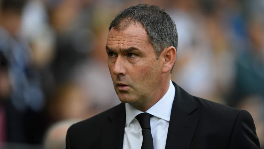 SWANSEA, WALES - SEPTEMBER 23:  Swansea manager Paul Clement reacts during the Premier League match between Swansea City and Watford at Liberty Stadium on September 23, 2017 in Swansea, Wales.  (Photo by Stu Forster/Getty Images)