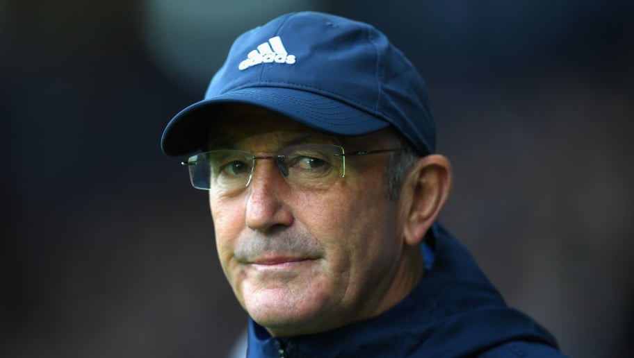 WEST BROMWICH, ENGLAND - SEPTEMBER 16:  Tony Pulis, Manager of West Bromwich Albion looks on prior to the Premier League match between West Bromwich Albion and West Ham United at The Hawthorns on September 16, 2017 in West Bromwich, England.  (Photo by Shaun Botterill/Getty Images)