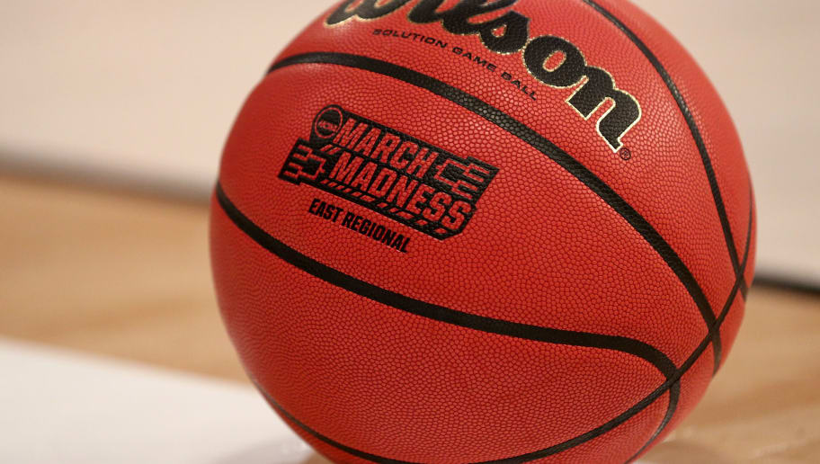 NEW YORK, NY - MARCH 24:  A detailed view of a Wilson Basketball with a NCAA March Madness logo on it during the first half between the Wisconsin Badgers and the Florida Gators during the 2017 NCAA Men's Basketball Tournament East Regional at Madison Square Garden on March 24, 2017 in New York City.  (Photo by Maddie Meyer/Getty Images)