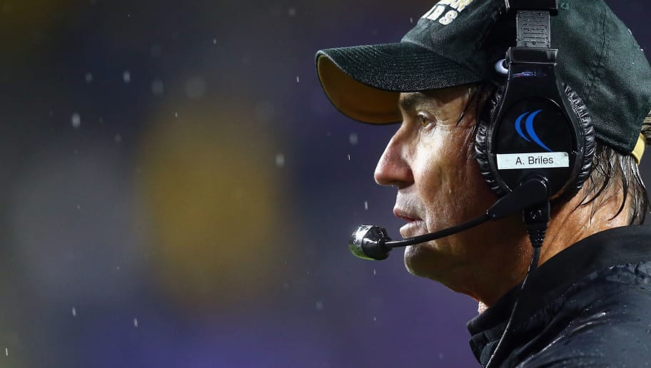 FORT WORTH, TX - NOVEMBER 27:  Head coach Art Briles of the Baylor Bears during the second half against the TCU Horned Frogs at Amon G. Carter Stadium on November 27, 2015 in Fort Worth, Texas.  (Photo by Ronald Martinez/Getty Images)