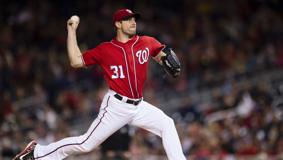 WASHINGTON, DC - SEPTEMBER 30: Starting pitcher Max Scherzer #31 of the Washington Nationals pitches in the second inning against the Pittsburgh Pirates at Nationals Park on September 30, 2017 in Washington, DC. (Photo by Patrick McDermott/Getty Images)