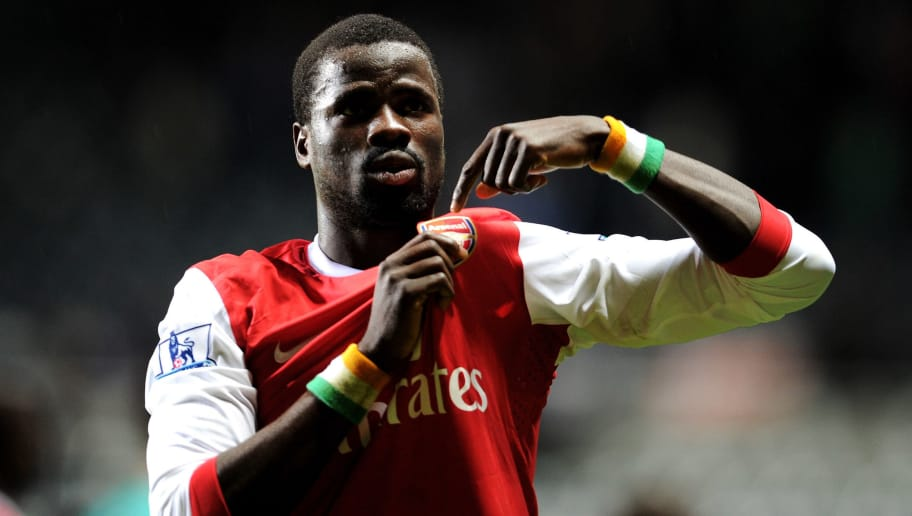 NEWCASTLE, UNITED KINGDOM - OCTOBER 27:  Emmanuel Eboue of Arsenal gestures during the Carling Cup Fourth Round match between Newcastle United and Arsenal at St James' Park on October 27, 2010 in Newcastle, England. (Photo by Michael Regan/Getty Images)