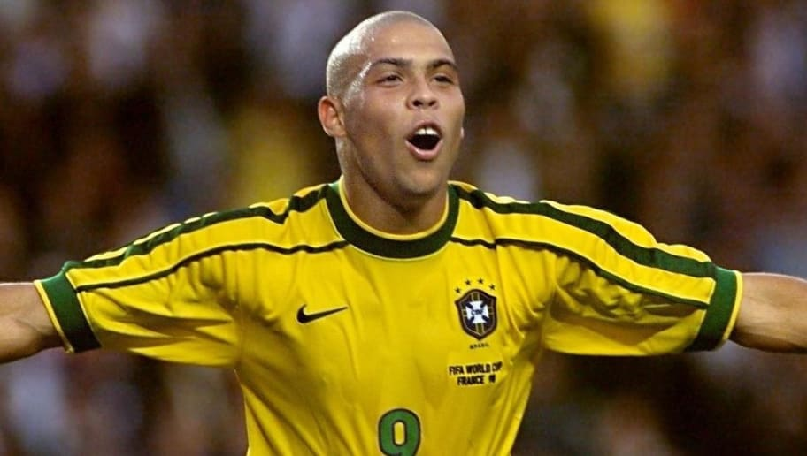 f6f50954c Brazilian forward Ronaldo jubilates after scoring his second goal during  the 1998 Soccer World Cup second