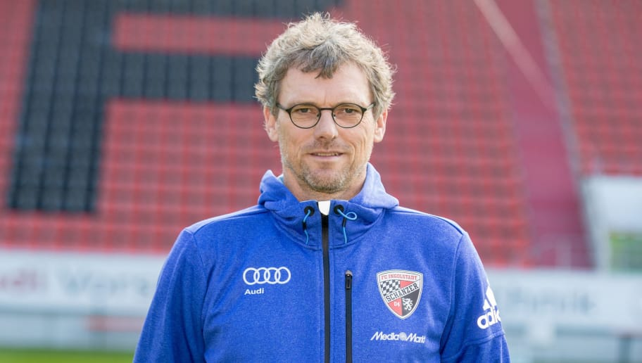 INGOLSTADT, GERMANY - JULY 09: Assistant coach Michael Henke poses during the FC Ingolstadt 04 team presentation at Audi-Sportpark on July 09, 2015 in Ingolstadt, Germany.  (Photo by Thomas Langer/Bongarts/Getty Images)