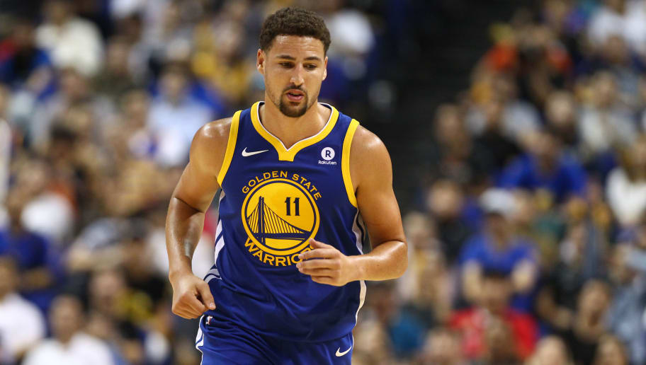 pretty nice 0c312 87b8a Klay Thompson Ditched Warriors Preseason Game to Go Watch ...