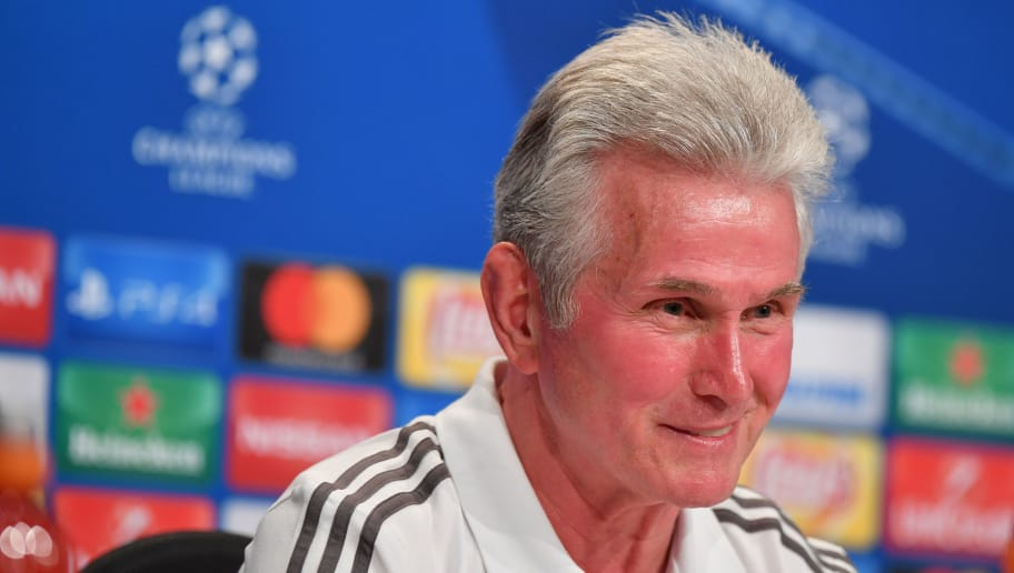 MUNICH, GERMANY - OCTOBER 17: Head coach Jupp Heynckes of FC Bayern Muenchen smiles during a Bayern Muenchen press conference ahead of the UEFA Champions League Group B match against Celtic FC at Fussball Arena Muenchen on October 17, 2017 in Munich, Germany. (Photo by Sebastian Widmann/Bongarts/Getty Images)